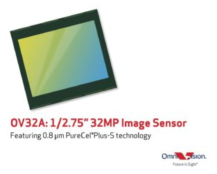 OmniVision announces its first 0.8 Micron, 32 Megapixel Image Sensor