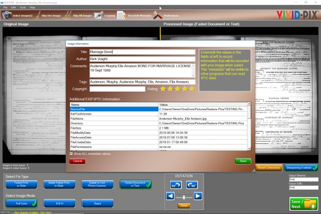 Vivid-Pix announces adding metadata zoom/transcribe feature to its RESTORE software at Allen County Public Library