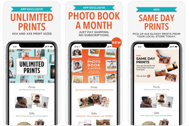 Shutterfly app updates adds printing to retail