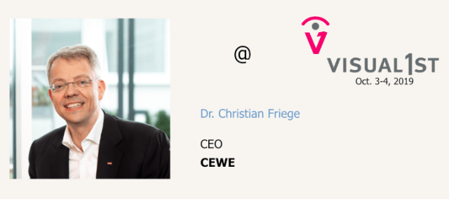 Dr. Christian Friege, CEO of CEWE to speak at Visual 1st conference