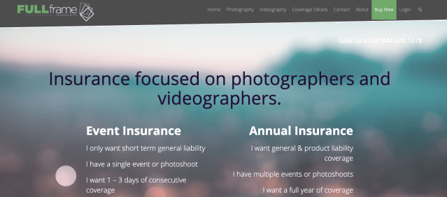 Insurance Canopy launched a new insurance program called Full Frame Insurance that offers photography and videography insurance.