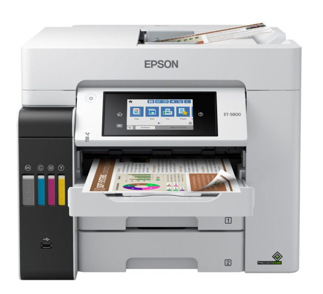 Epson America announces five EcoTank Pro cartridge-free printers