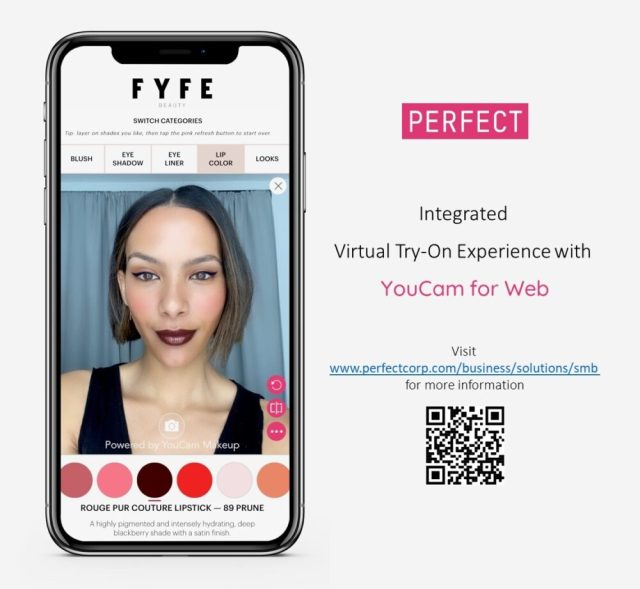 Perfect launches of YouCam for Web AR try-on solution