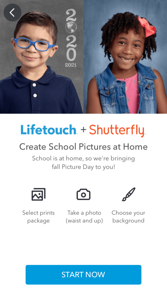 Lifetouch promoting at-home school photos in Shutterfly app
