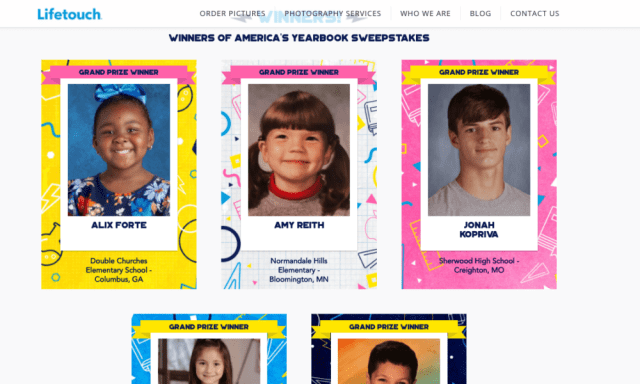"Lifetouch announces winners of ""America's Yearbook"" contest"