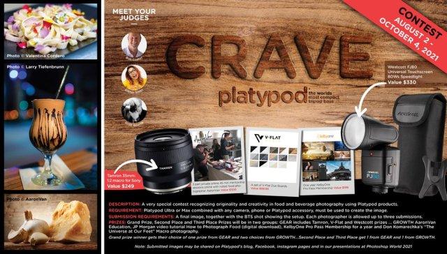 Platypod announces CRAVE Photography Contest