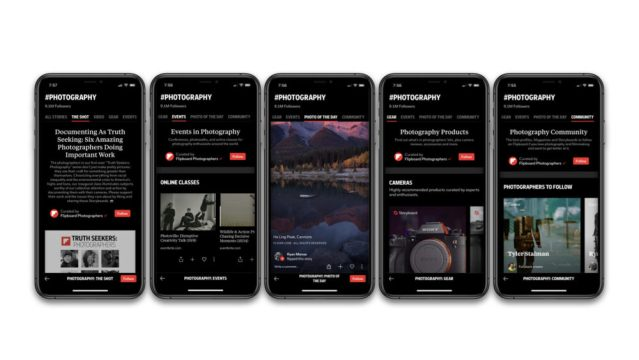 Flipboard adds features for photographers and enthusiasts