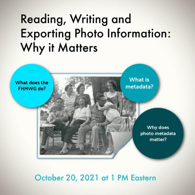 Family History Metadata Working Group holding free webinar Oct. 20