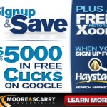 Moore and Scarry announce $5000 Free clicks Google Promotion