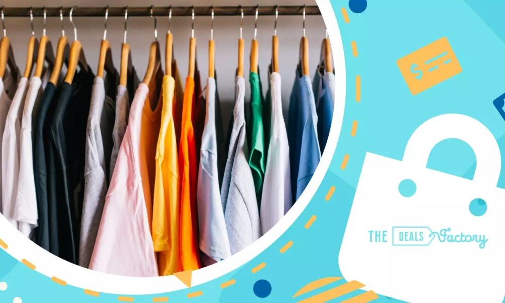 a closet of recycled clothes
