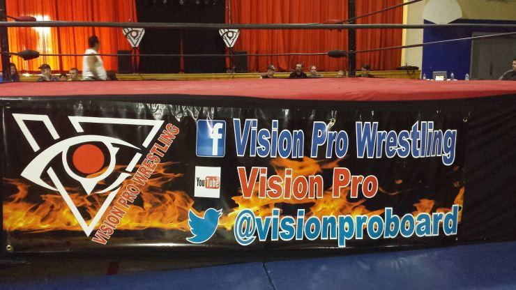 Vision Pro Wrestling Banner