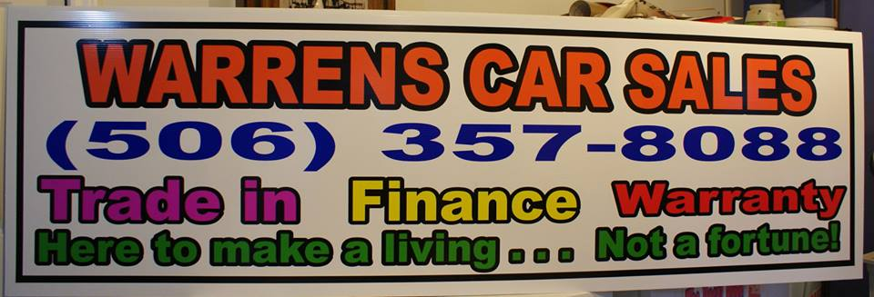 Warrens Car Sales Panel Sign