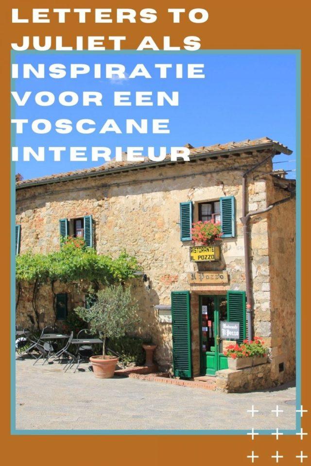 De film Letters to Juliet als inspiratie voor een Toscane interieur