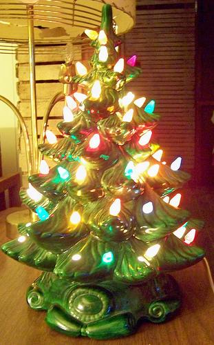 Ceramic Christmas Tree Light Bulbs