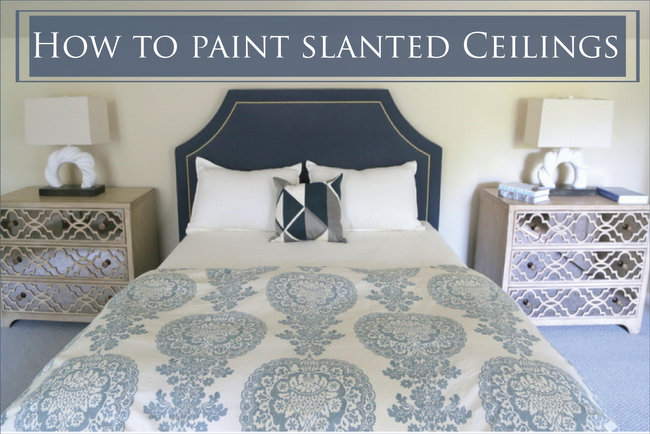 How To Paint Slanted Ceilings
