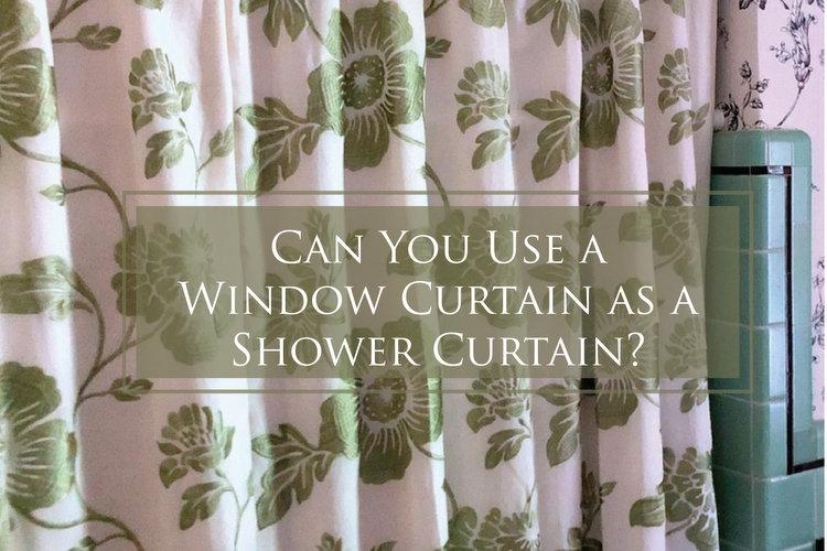 window curtain as a shower curtain