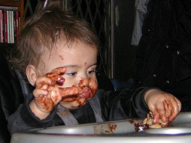 Messy eater.