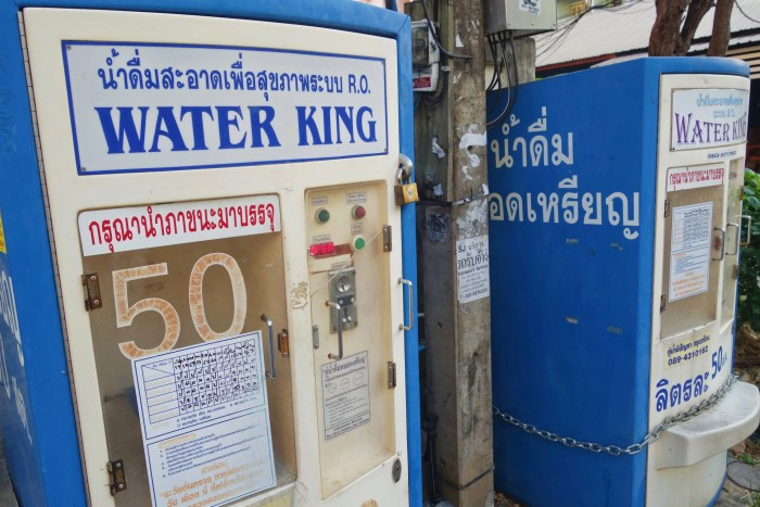 Water refill machines in Chiang Mai, Thailand