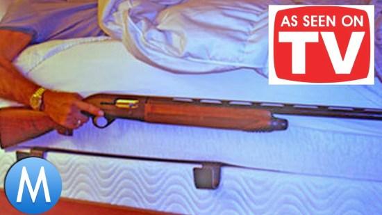 'As Seen on TV' mattress gun rack