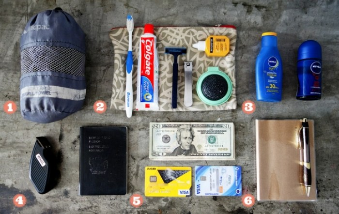 Minimalist travel packing list: Toiletries and miscellaneous