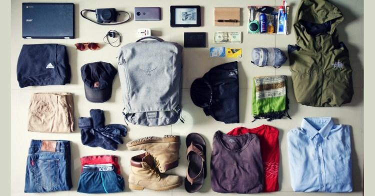 Minimalist travel packing list