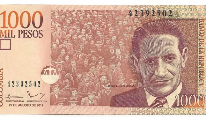 Colombian 1000 peso note