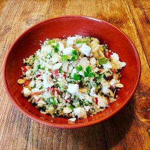 Tabbouleh With Feta Cheese and Roast Almonds