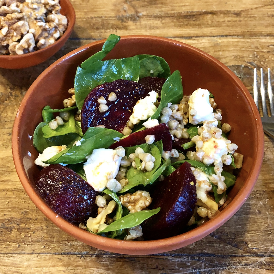Beetroot and Goat's Cheese Salad with an Orange and Balsamic Dressing
