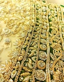 Sangeet anarkali border embroidery details