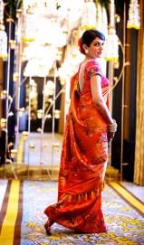 Wedding sari side full length
