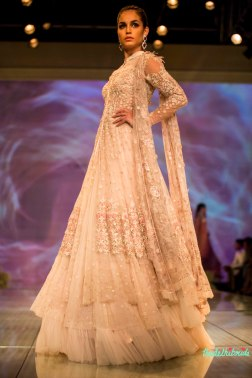 white jacket lehenga 2 Tarun Tahiliani India Bridal Fashion Week 2014