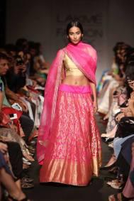 Sanjay Garg vibrant pink lehenga