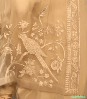 Parrot and peacock motifs were embroidered onto a lot of garments