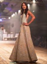 Pale blue embroidered Organza gown - Monisha Jaising - Amazon India Couture Week 2015