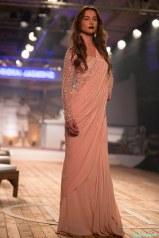 Peach Saree with Zardosi Blouse - Monisha Jaising - Amazon India Couture Week 2015