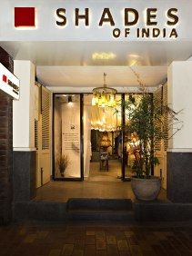 Shades of India - Store entrance - facade - Meherchand market wedding shopping guide