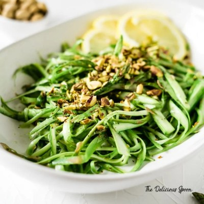 Raw Asparagus Salad With Pistachios