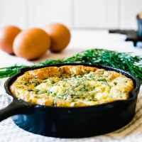 Baked Frittata Recipe - Feta, Dill & Spinach