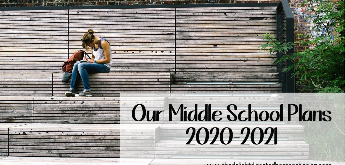 Our Middle School Plans 2020-2021