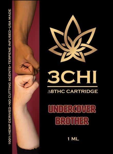 3Chi Vape Cart Insert Delta 8 Undercover Brother 1ml