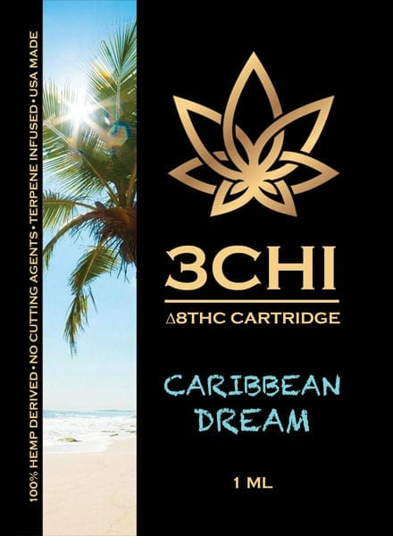 3Chi Vape Cart Insert Delta 8 Caribbean Dream 1ml