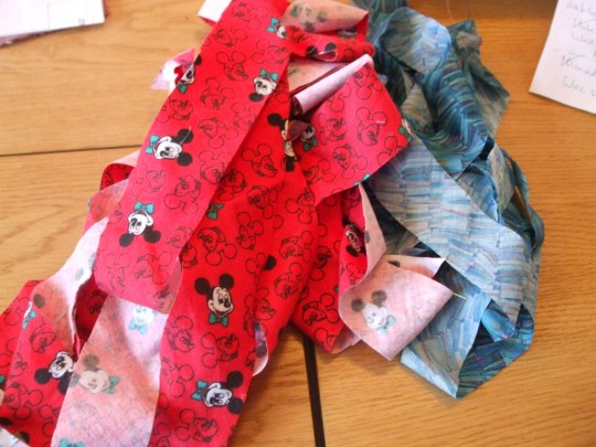 Mickey Mouse and Tana lawn bias binding