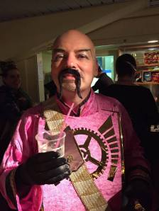 Our pal Chris, Ming-in-Pink, who rightly won the costume competition.