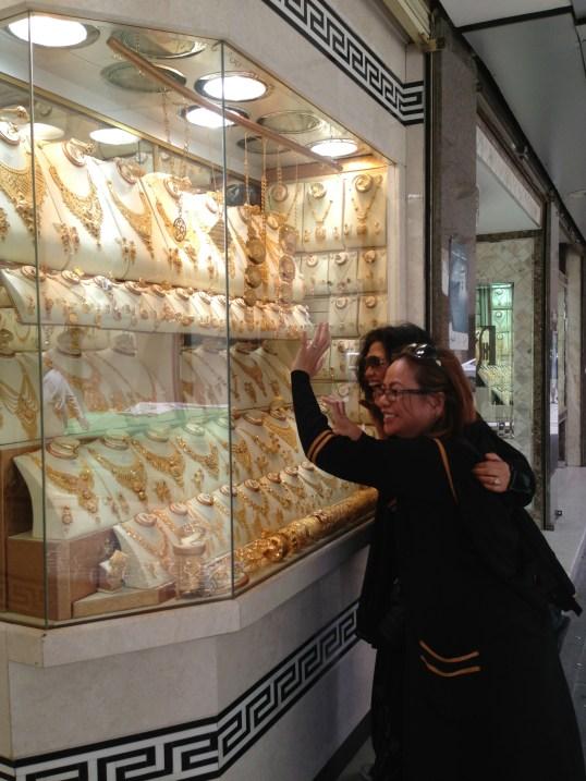 enjoying the display
