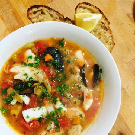 San Fransisco Cioppino by Len Senater. TONIGHT!