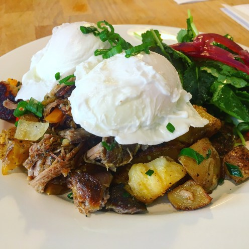 Smoked Pork Hash & Eggs