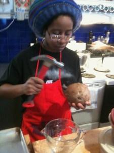 Cook, musician and activist Kalmplex preparing an Ital (a Rastifarian version of veganism) meal