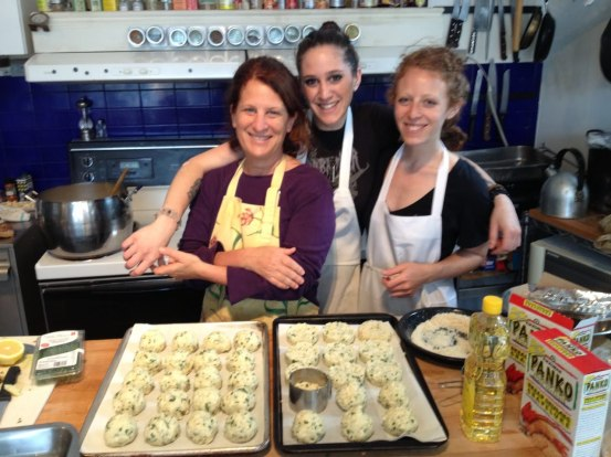 Lisa Kates (left) was a mentor and inspiration from the very outset of The Dep. She went on to co-found an amazing food charity, Building Roots, which aims to address food insecurity in some of Toronto's most underserved neighbourhoods. Her whole family is into food; here her two daughters joined her in the kitchen.