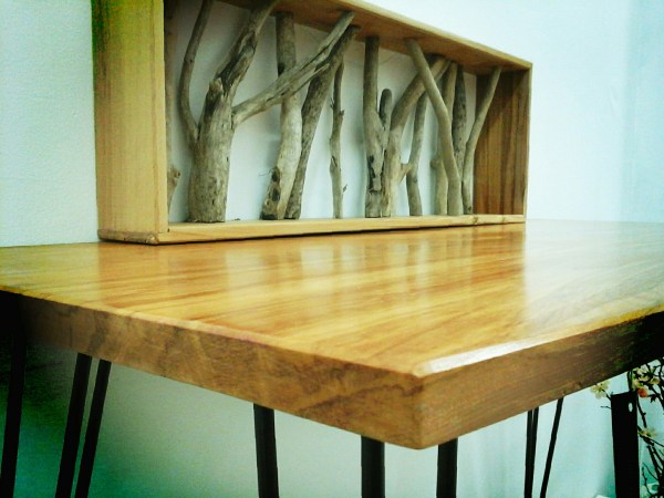 Rime Console Table and Driftwood shelf