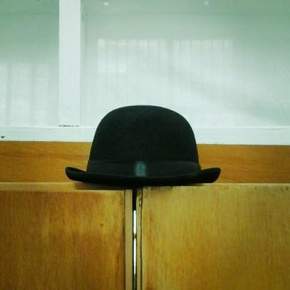 a bowler hat